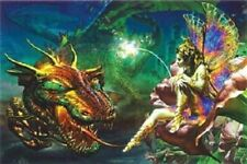 DRAGON FAIRY ~ 24x36 FANTASY ART POSTER ~ Adrian Chesterman ~ NEW/ROLLED!