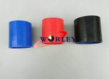 "ID 3""  76mm Straight Silicone Radiator Hose Coupler INTERCOOLER TURBO PIPE BLACK"