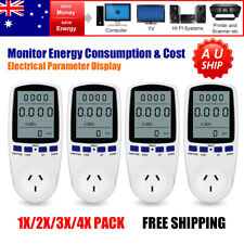 240v Watt Meter Energy Monitor Electricity Consumption Wattmeter Socket AU Plug