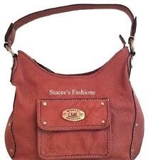 Michael Kors Auth Saddle Brown Limited Edition Shoulder Bag Handbag Purse EUC MK