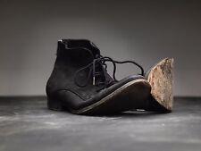 All Saints Black Patina Cool Snare shoes Mens Size 41 John Varvatos (B)