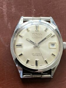 Vintage Mens Automatic Watch Titan 25 Jewels  For Repair Read Description