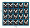 NATIVE ART US AMERICANA SCOTT #3753 NAVAJO JEWELRY 20 MINT NH VF 2c STAMP SHEET