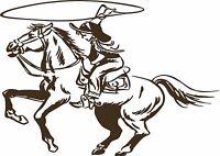 Cowgirl Horse Rodeo Western Cowboy Car Truck Window Laptop Vinyl Decal Sticker