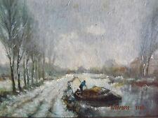 HENDRIK DIRK KRUSEMAN VAN ELTEN 1829-1904 Canal Scene Oil on Panel Impressionist