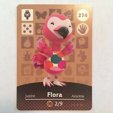 Flora 274 Animal Crossing Amiibo Card Series 3 - Never Scanned & Genuine