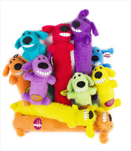 "Multipet  Loofa dog toy 12"" Assorted Colors(Free Shipping in USA)"