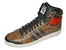 Adidas Originals top ten Hi m25601 Hi-tops marrón/negro/naranja/blanco hombre nuevo