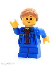 LEGO City MiniFigure: Girl (Denim Jacket, Blue Short Legs)  Set 31050