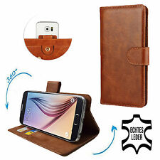 Housse portable | Huawei u8860 | 360 ° Case | CUIR VERITABLE | 360 Cuir Marron XS