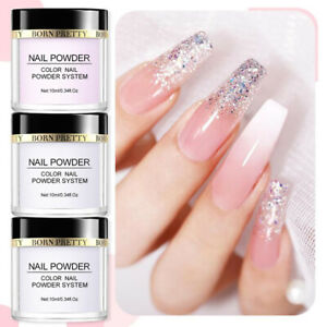 10ml BORN PRETTY Acrylic Powder Nail Tips Extension Pink White Clear Color