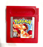 Pokemon Red Version Nintendo GameBoy Game Authentic w/ New Save Battery!