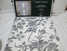 "New Laura Ashley LLOYD Floral Grommet Panel Pair Two 40""x84"" Grey/Ivory Flowers"