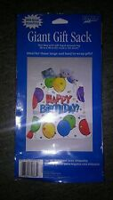 GIANT GIFT SACK Disposable Decorative Plastic Gift Bag  36 x 40 HAPPY Birthday