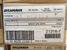 21316-7 Case lot of 24 Sylvania  F13T5/CW  Fluorescent Lamp NEW miniature bi-pin