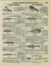 1932 PAPER AD Creek Chub Fishing Lures Baby Jointed Pikie Fred Arbogust Foss'