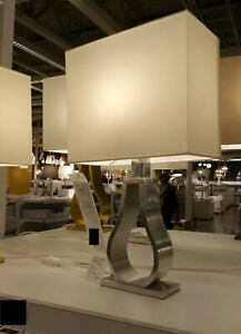 IKEA Klabb Table Lamp Warm Off White Modern Aluminum Base Architectural Accent