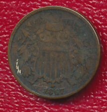 1867 TWO CENT PIECE **NICE COPPER TYPE COIN** FREE SHIPPING!