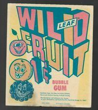 MR440:Leaf Wild Fruit 1 cent Bubble Gum Label Card