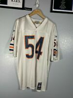 Reebok NFL Chicago Bears 2000s Brian Urlacher Jersey Football White Home