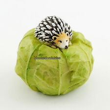 Miniature Garden Mini Hedgehog on Cabbage TO 4448 Dollhouse Fairy Faerie Garden