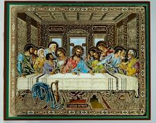 Jesus Christ Lord's Supper The Last Supper Icon Russian Тайная Вечеря Икона