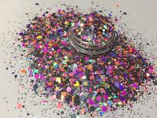Exclusive Bizzy Nails Cosmetic Grade Glitter Nail Art Funky Acrylic Gel