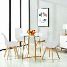 EGGREE Mesa y sillas redondas de vidrio para comedor Conjunto de sillas de mesa