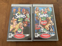 The Sims 2 + The Sims 2 Pets Sony PSP Games Bundle Free Postage