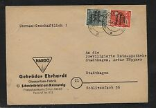 Germany soviet zone ad cover with overprinted stamps Ht0120