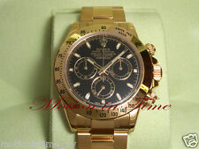 Rolex Cosmograph Daytona Yellow Gold on Bracelet Chrono Black Dial 40mm 116528