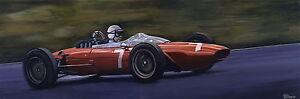 John Surtees, Ferrari 156, 1963 German GP Nurburgring - Ltd Ed Print