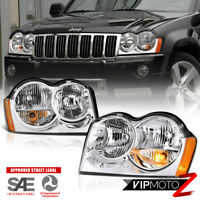 "For 2005-2007 Jeep Grand Cherokee WK ""FACTORY STYLE"" Chrome Headlights Assembly"