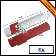 2X EMBLEMA AUDI LOGO SLINE 3D ADHESIVO 3M INSIGNIA A3 A4 Q5 TT BADGE S LINE