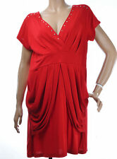 Robe péplum Femme grande taille  Taille 44 46 Rouge cloutés Alina ZAZA2CATS