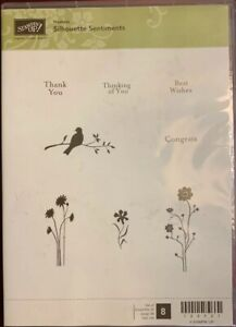 Stampin Up Rubber Stamp Set Hostess Silhouette Sentiments Paper Crafting