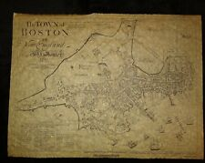 THE TOWN OF BOSTON VINTAGE MAP George Girdler Smith's RARE 1835 reissue