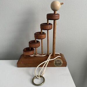STUMPS Vintage Lumberjack Toys Wooden Brain Teaser Puzzle