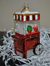 NEW SUR la TABLE  SNOWCONE MACHINE Shaved Ice Glass Blown Ornament Xmas Poland