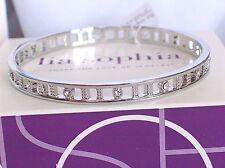 "Beautiful Lia Sophia Silver ""CLIMB THE LADDER"" Bangle Bracelet, Size:Med, NWOT"