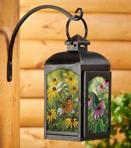 Butterflies Candle Lantern (Black) by Rosemary Millette