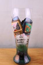 LOLITA Hand Painted 22 oz Pilsner Beer Glass TV Sports Football Baseball Tennis