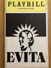 1981 Evita Broadway Playbill Magazine