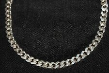 Solid Sterling Silver Chunky Necklace 55cm HEAVY