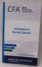 Kaplan Schweser Cfa 2019 Program Exam Prep Schweser's Secret Sauce Level II New