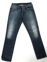 B-Ware |Nudie Herren Slim Fit Jeans | Grim Tim Contrast Deep | W32 L32