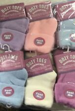 2 X Women Ladies Dozy Toes Thermal Socks Warm Winter Cosy Bed Socks- Size 4-7