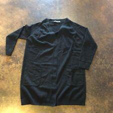 GentryPortofino black 2-3 ply cashmere Cardigan 42 8