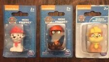 Paw Patrol Mini Figures Red Marshall, Orange Zuma, Yellow Ruble..Free Shipping