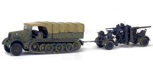 SOLIDO/WAR MASTER 1/72 WWII SD KFZ FAMO HALF TRACK & 88MM FLAK GUN GERMANY 1945